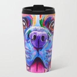 Boxer Dog Bright Painting Travel Mug