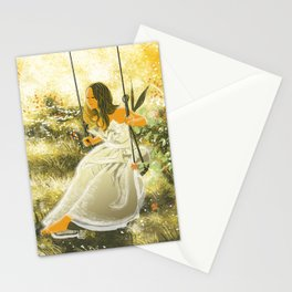 The swing Stationery Cards