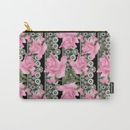 Gentle roses on a lace background. Carry-All Pouch