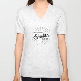 professional shutter clicker t-shirt 1 Unisex V-Neck