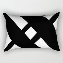 Hidden Letters. Baskerville X Rectangular Pillow