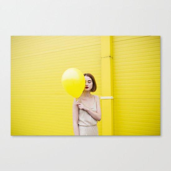 Girl balloon Canvas Print