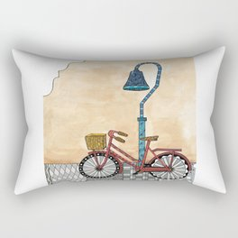 Bicycle on the El Camino Real Rectangular Pillow