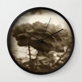 Red Rose with Light 1 Antiqued Wall Clock