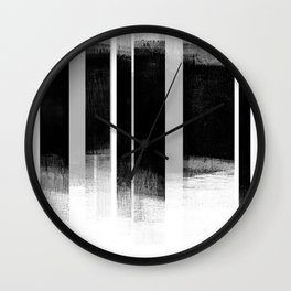 Black and White Retro Style Geometric Abstract - Codex Wall Clock