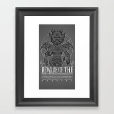 Super Monster Framed Art Print