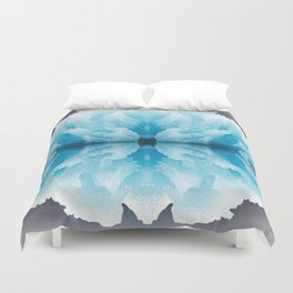 Icy Reflection Duvet Cover