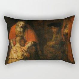 Return of the Prodigal Son - Rembrandt van Rijn Rectangular Pillow