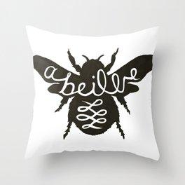 Abeille Noire Throw Pillow