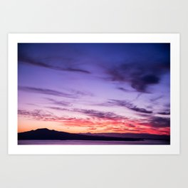Auckland Sunset Art Print