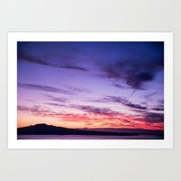 Auckland Sunset Art Print
