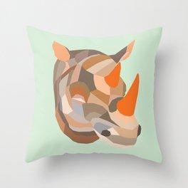 URBAN RHINO Throw Pillow