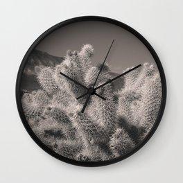 Jumping Cholla Cactus Wall Clock
