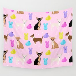 Chihuahua dog breed marshmallow peeps easter spring traditions cute dog breed gifts chihuahuas Wall Tapestry
