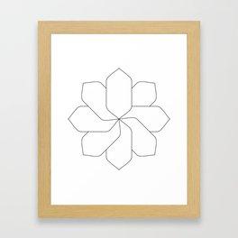 Flower Base Framed Art Print