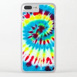 Tie Dye Clear iPhone Case