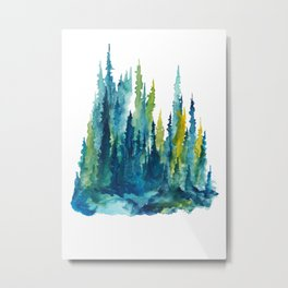 Limelight Pines Metal Print