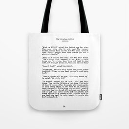 Becoming Real, Velveteen Rabbit Quote Tote Bag