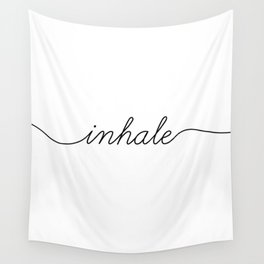 inhale exhale (1 of 2) Wall Tapestry