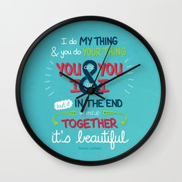 It's Beautiful Wall Clock
