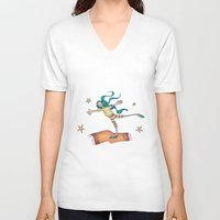 freedom V-neck T-shirts featuring Freedom by Catru