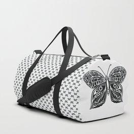 black butterfly Duffle Bag