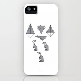 Origami Penguin iPhone Case