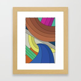 Comic Color Rectangle Framed Art Print