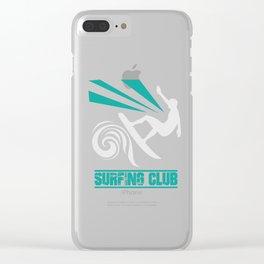 Hawaiian Surfer , beach vacation,ocean, surfing the waves Clear iPhone Case