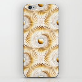 Golden Swirls iPhone Skin