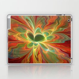 With a lot of Red, Abstract Art Laptop & iPad Skin