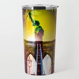 New York Brooklyn Bridge, Statue of Liberty Travel Mug