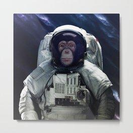 chimpanzee astronaut in the Milky way galaxy Metal Print