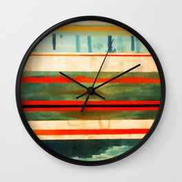 Stripes Bright Wall Clock