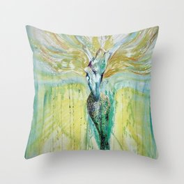 Mermaid Awakening Throw Pillow