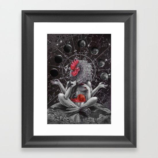 Moon phase celebration Framed Art Print