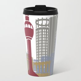 Jeddah skyline poster Travel Mug