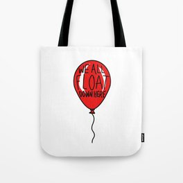 IT We All Float Down Here Red Balloon Tote Bag