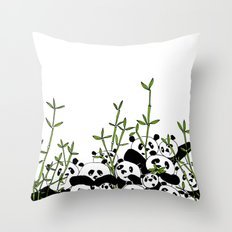 A Pandemonium of Pandas  Throw Pillow