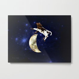 Calf Jumped Over the Moon Metal Print