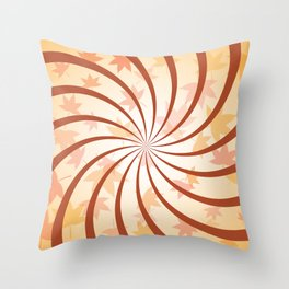 Autumn Spiral Throw Pillow