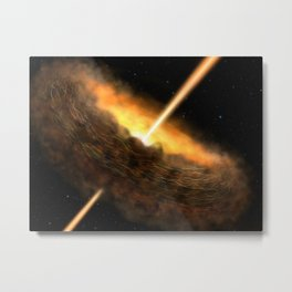 77. Magnetic Fields May Be the Key to Black Hole Activity Metal Print