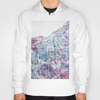 cleveland Hoodies featuring Cleveland map by MapMapMaps.Watercolors