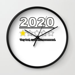 2020 Review 1 Star Rating Very Bad Would Not Recommend Gift Wall Clock