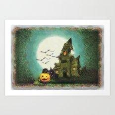 Halloween Sketch Art Print