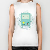 bmo Biker Tanks featuring BMO love by fox bear designs