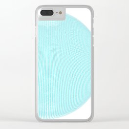 Wire Globe Full Blue White Background Clear iPhone Case