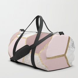 Sensations of the mind rose gold Duffle Bag