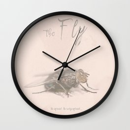 The Fly - Movie poster from David Cronenberg's classic horror film with Jeff Goldblum Wall Clock
