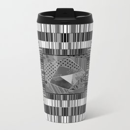 Abstract pattern . Patchwork striped . Metal Travel Mug